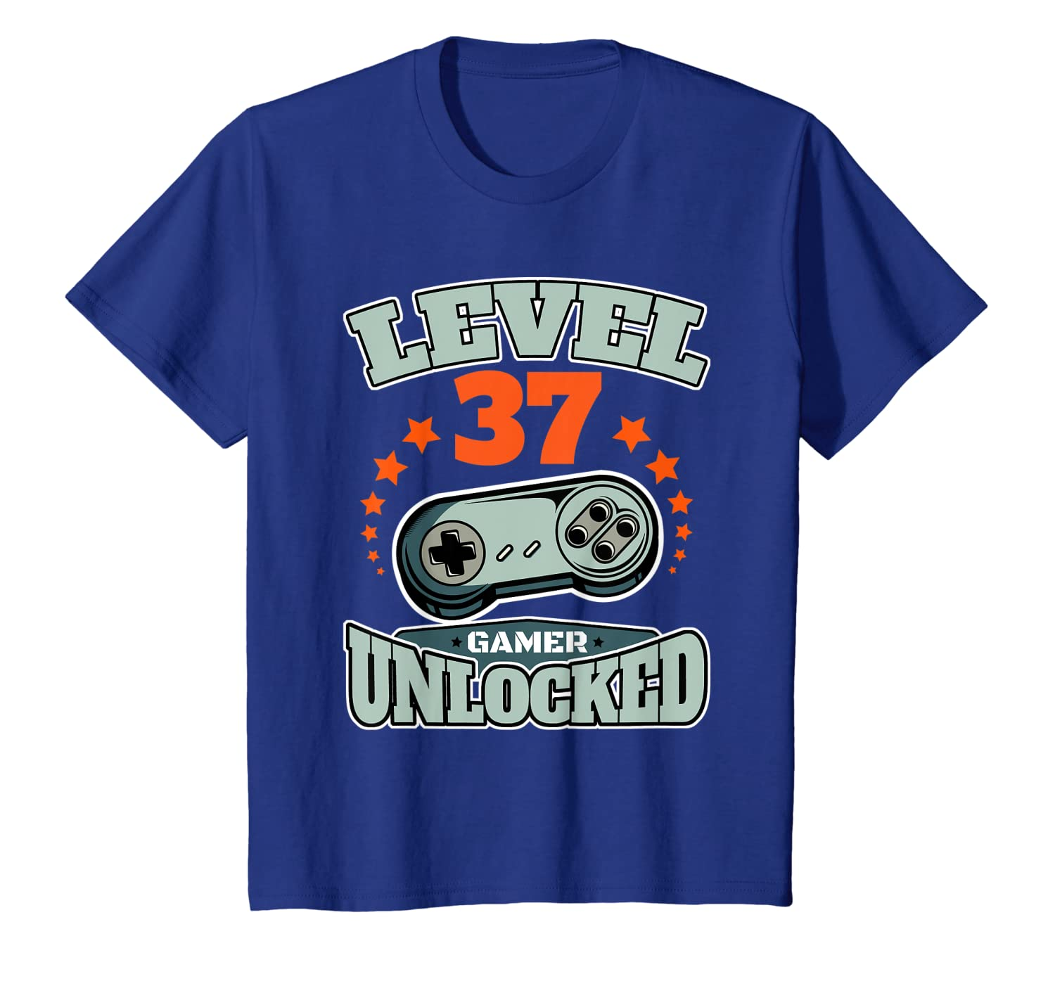Level 37 Unlocked 37th Birthday or Wedding Anniversary Gift T-Shirt Unisex Tshirt