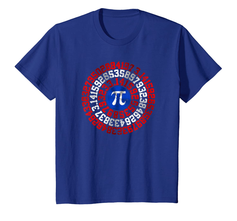 """Captain Pi"" Funny Pi-Day T-shirt for Superhero Math Nerds-Awarplus"