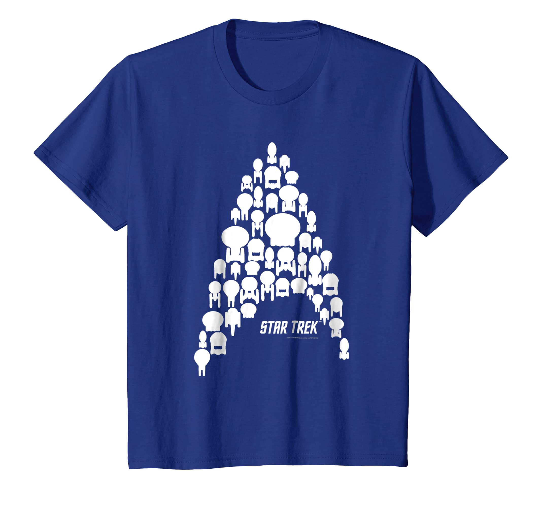 bc40e1be Amazon.com: Star Trek Federation Fleet Delta Silhouette Graphic T-Shirt:  Clothing