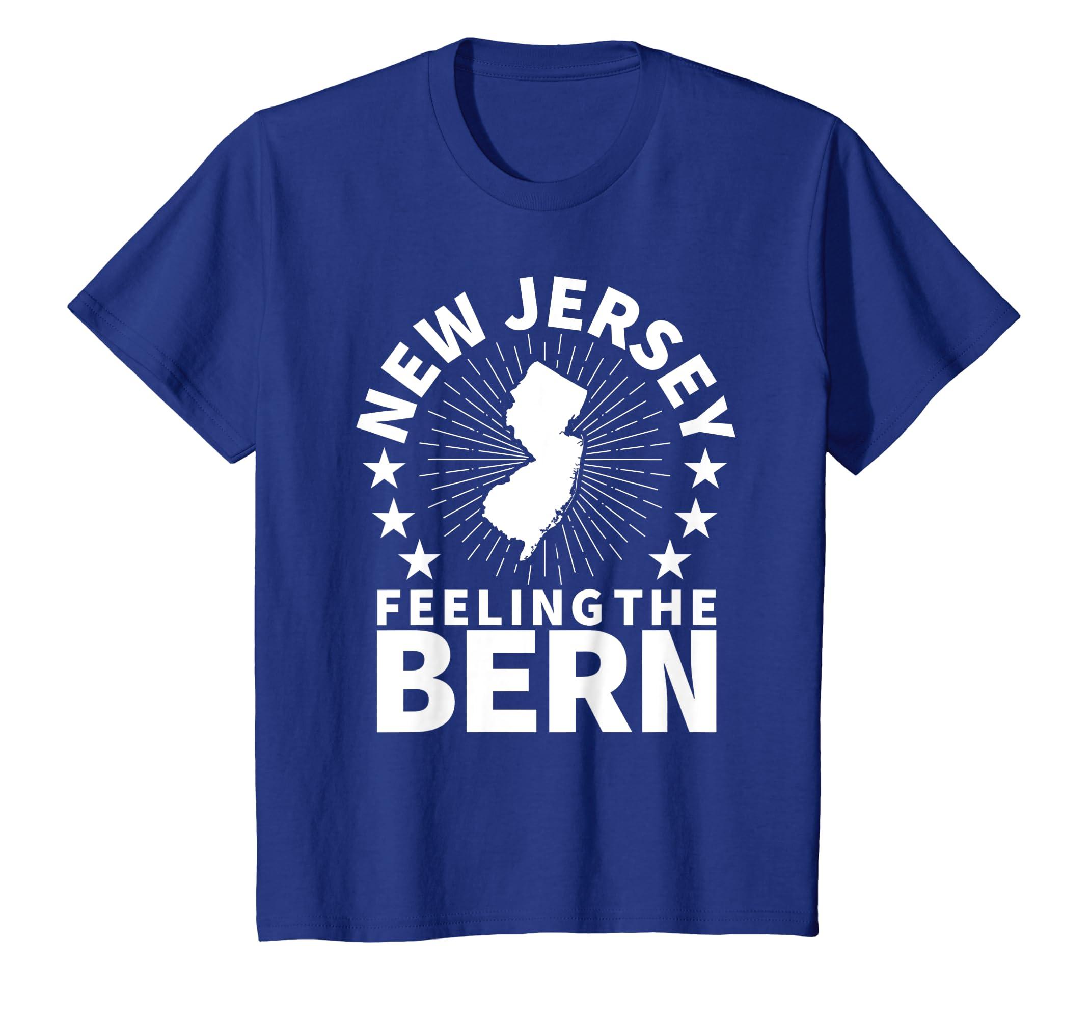 New Jersey Elections 2020.Amazon Com New Jersey Bernie Sanders T Shirt Feel The Bern