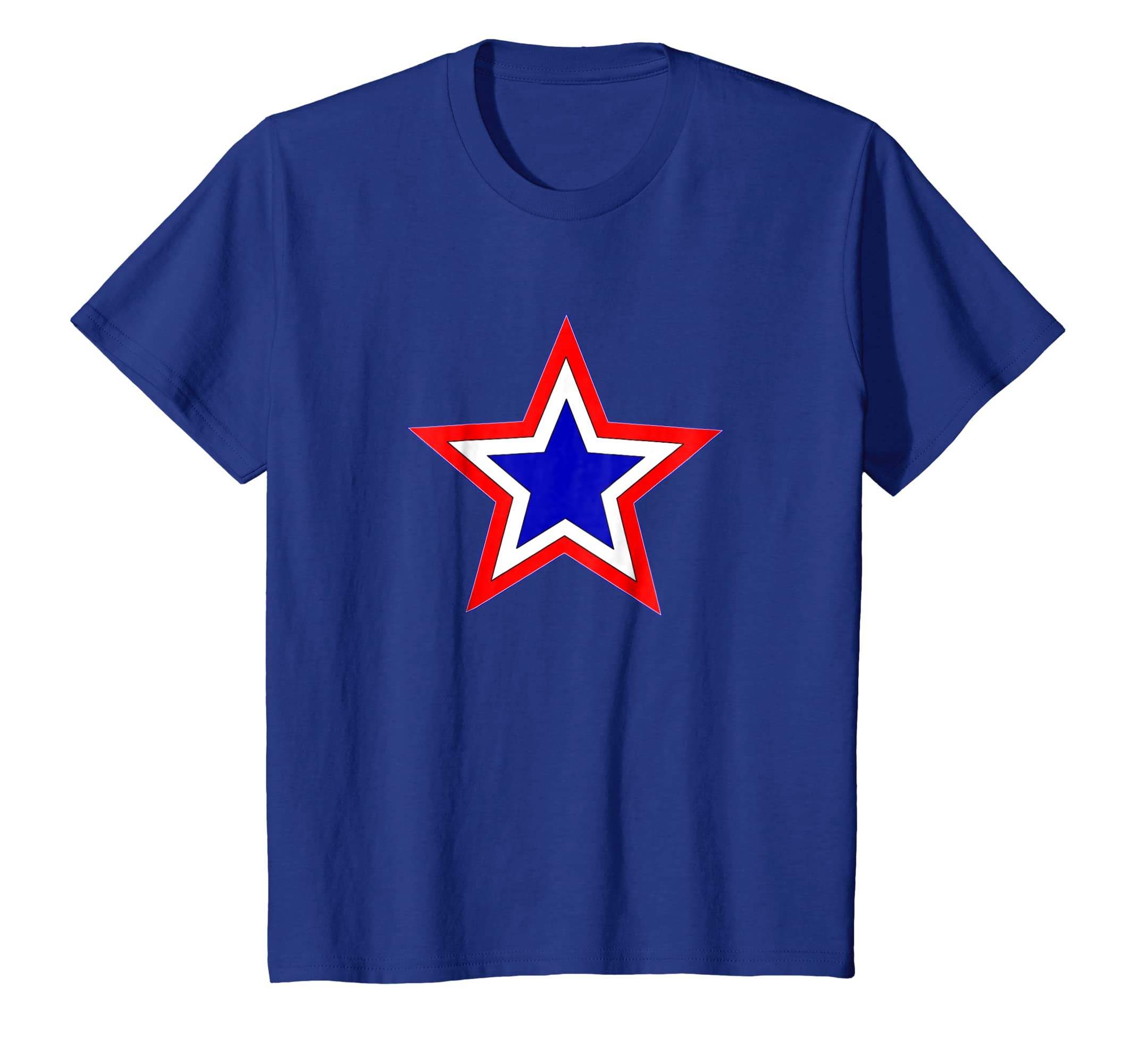 3e9849de4ff5 Amazon.com: Red White and Blue Stars T-shirt: Clothing