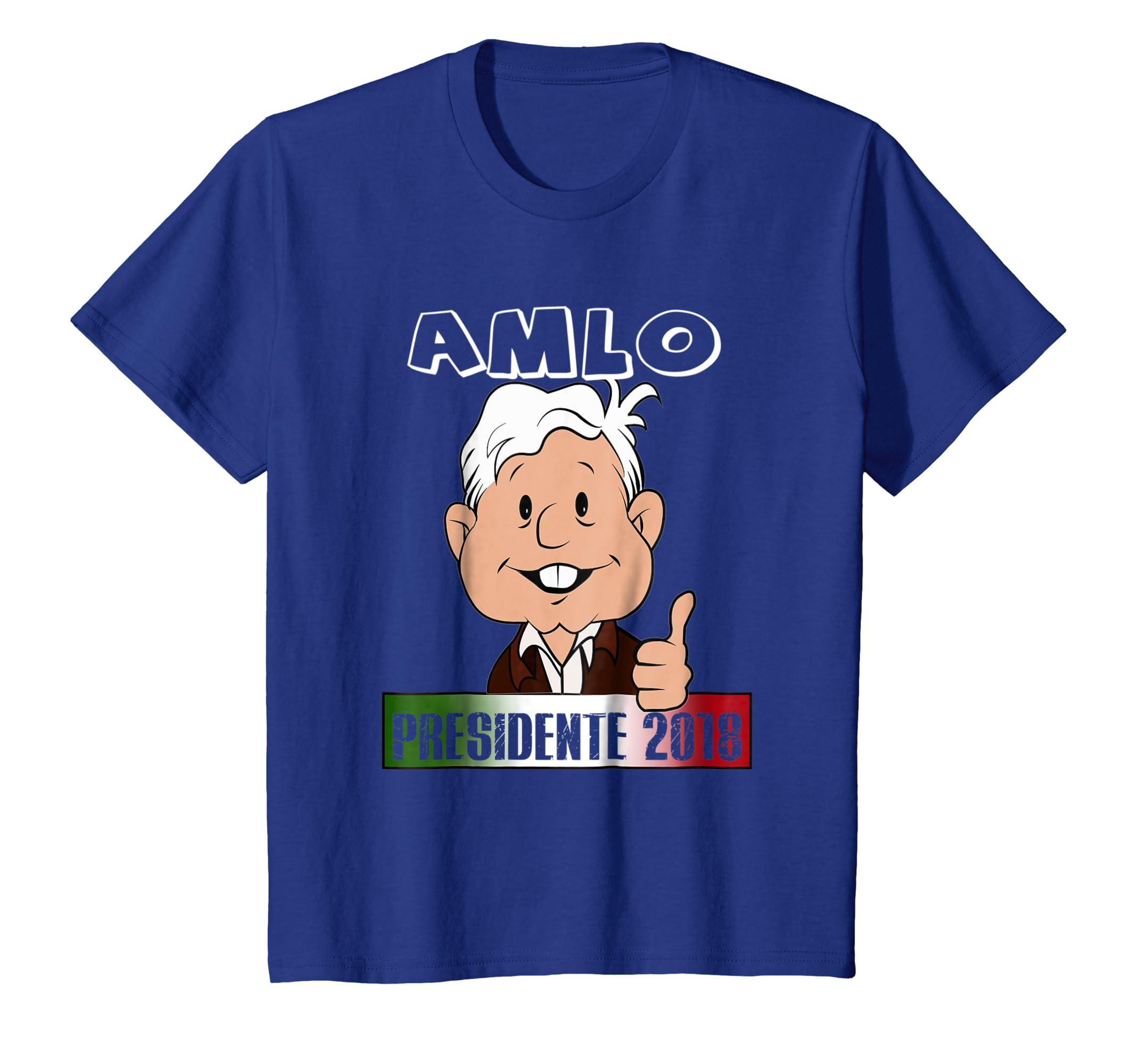 Amazon.com: AMLO Presidente 2018 Shirt Elecciones Mexico Camisa Espanol: Clothing
