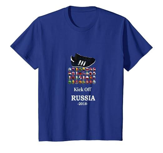 Amazon.com  Kids World Football Tshirt- Russia 2018 Cup Soccer Shirt ... 1afce36cd6