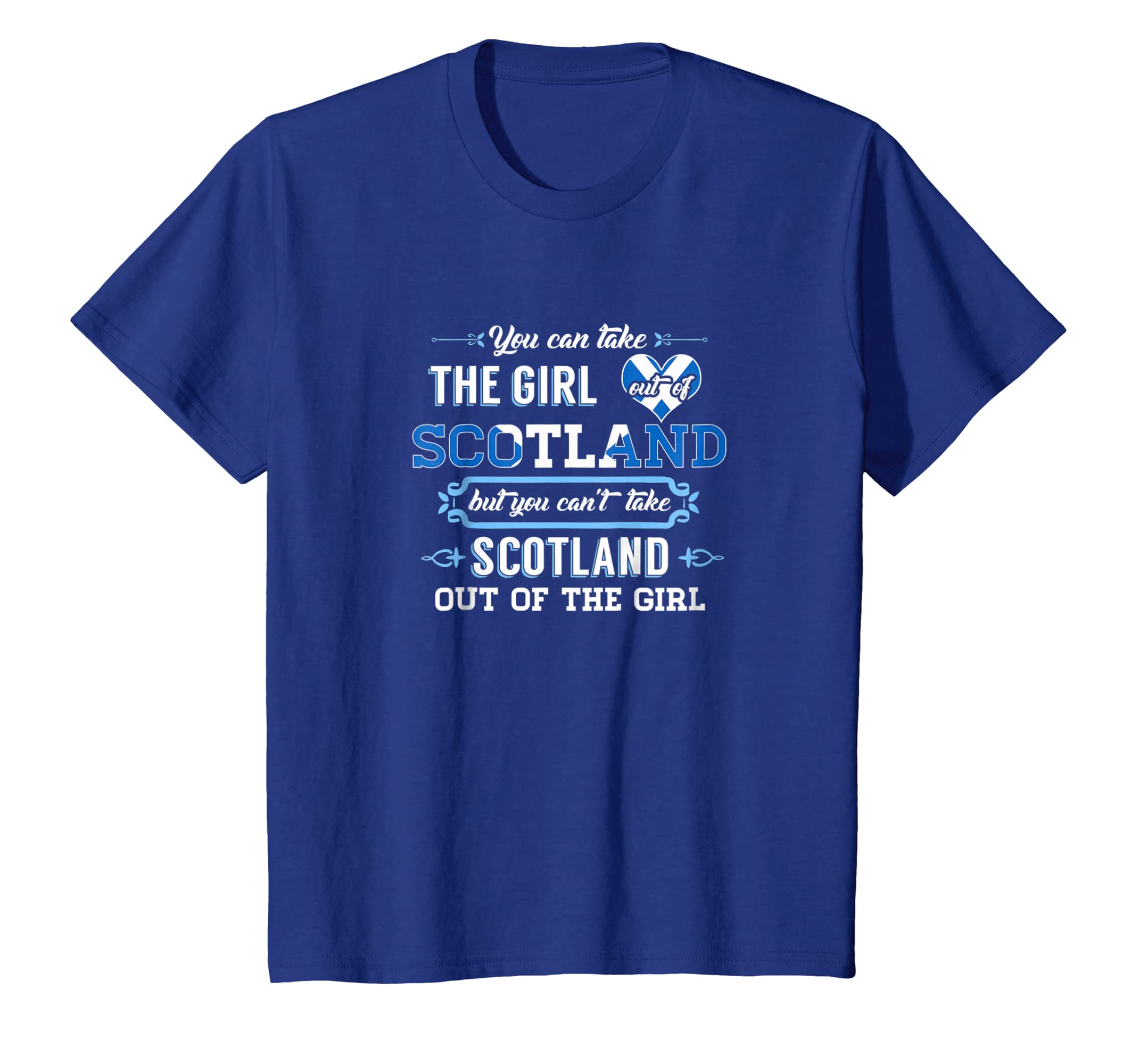 2f6778006 Amazon.com: Scottish Funny T-shirt Ancestry Can't take Scotland Out Girl:  Clothing