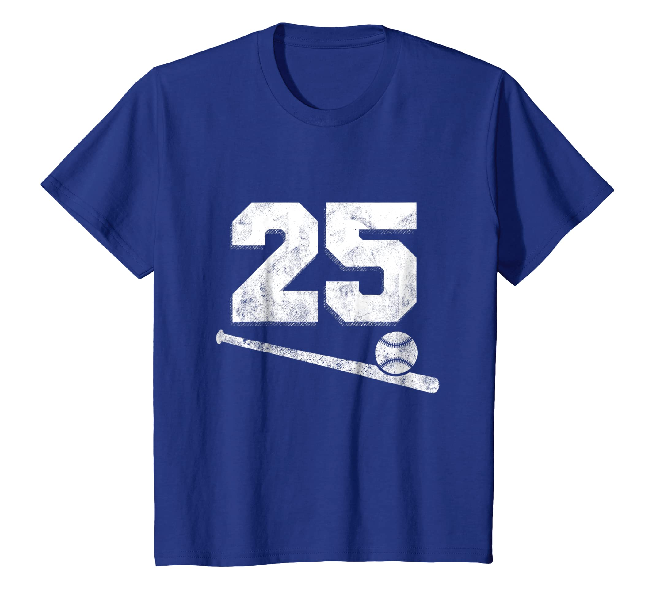 51080273c Amazon.com  Vintage Baseball Jersey Number 25 T-Shirt Player Number   Clothing