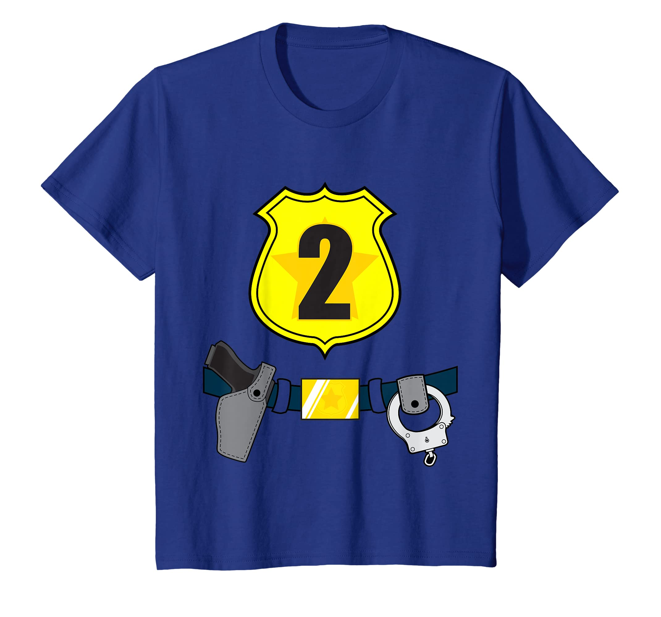 Amazon Kids 2nd Birthday Boys Police T Shirt Cop 2 Year Old Clothing