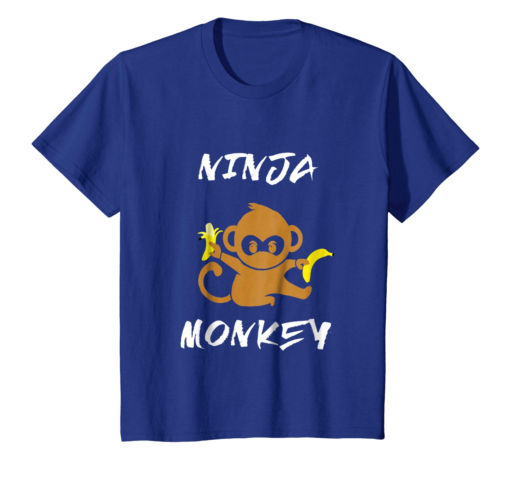 Amazon.com: Ninja Monkey Martial Arts Banana Cartoon Sketch ...
