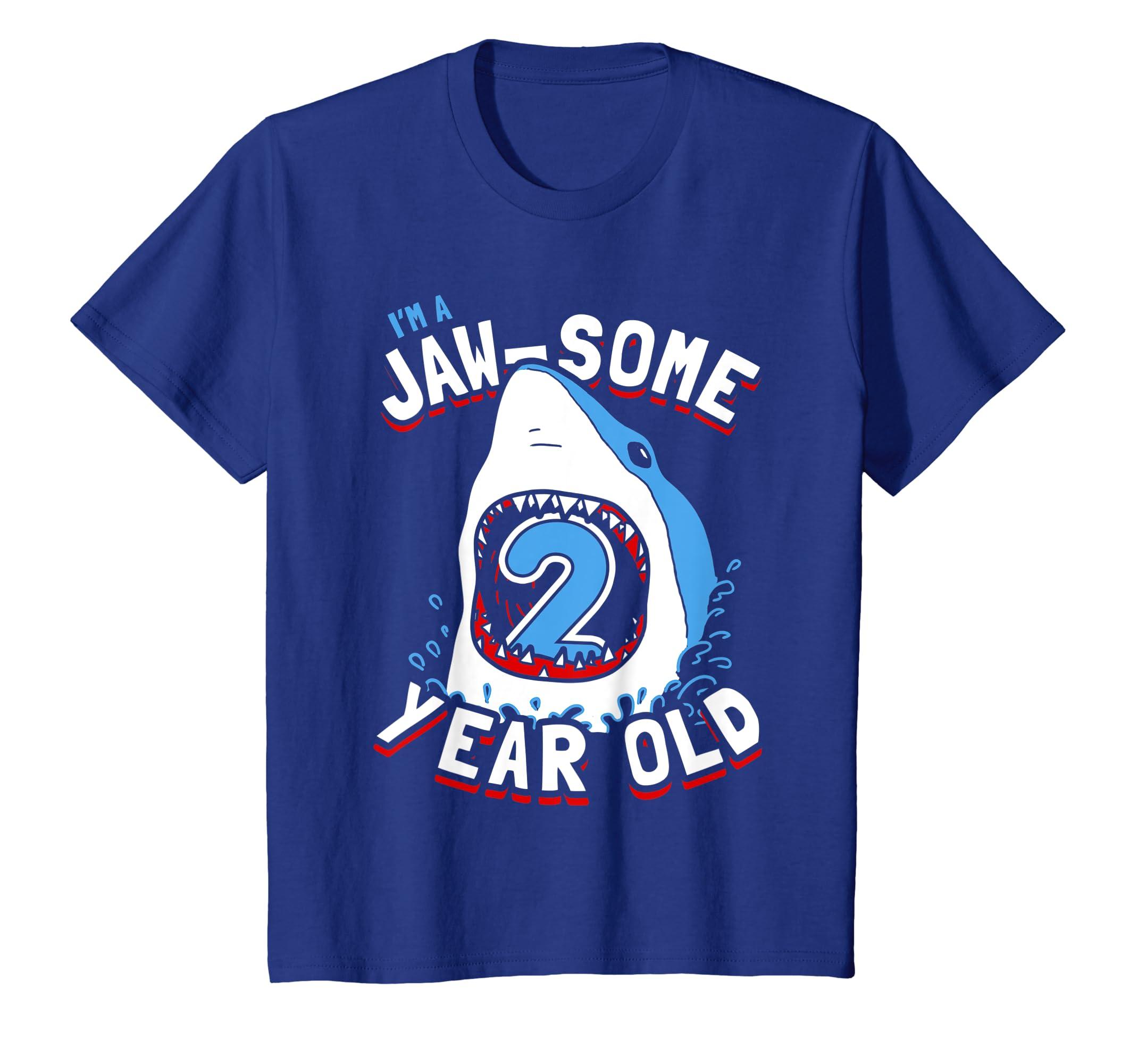 Amazon Kids 2nd Birthday Shark T Shirt