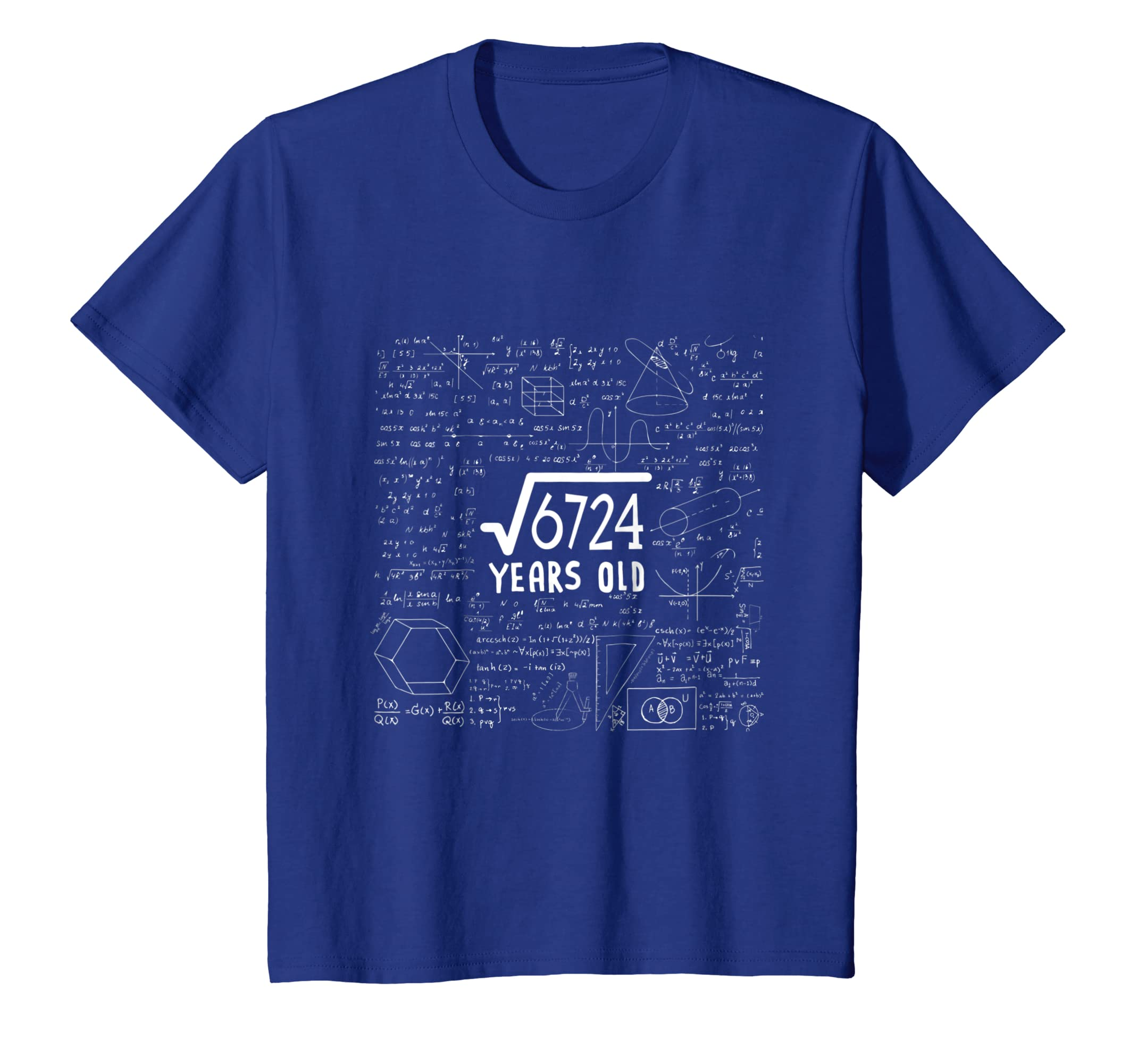 Amazon.com: Square Root of 6724: 82nd Birthday Gift 82 Years Old T-Shirt: Clothing