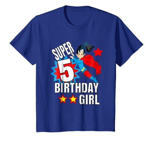 Amazon Kids Birthday Hero Shirt Super 5 Birthday Shirt For Girl