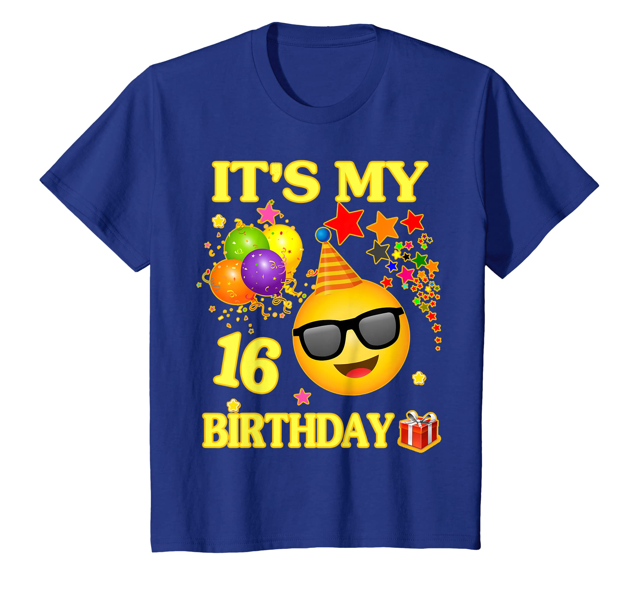 Amazon 16 Years Old Its My Birthday Emoji Shirt 16th Clothing