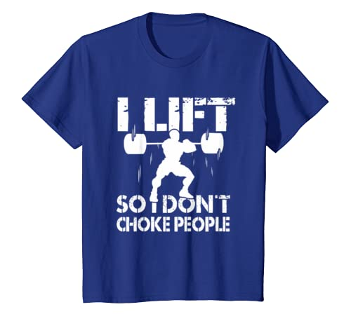 f6527305 Amazon.com: I Lift So I Don't Choke People Weightlifting T-shirt Funny:  Clothing