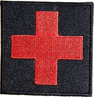 American Red Cross Medic First Aid Nurse Doctor Logo Jacket Uniform Patch Sew Iron on Embroidered Sign Badge Costume