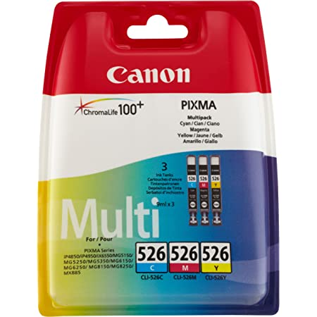 Canon Tintenpatrone Cli 526 C M Y Multipack 9 Ml Für Pixma Drucker Cyan Magenta Gelb Original Bürobedarf Schreibwaren