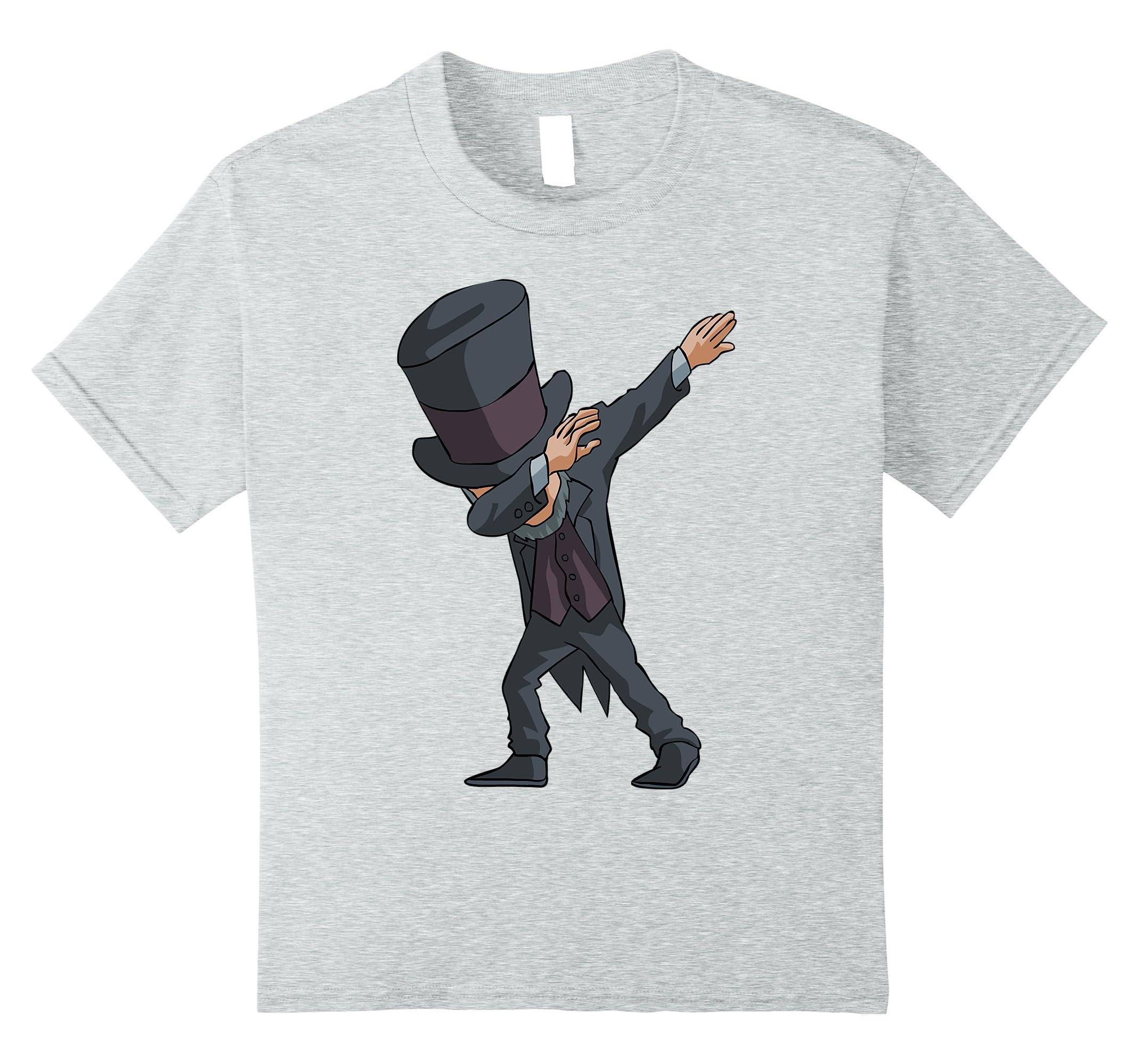 Dabbing Lincoln T Shirt Funny President-Teesml