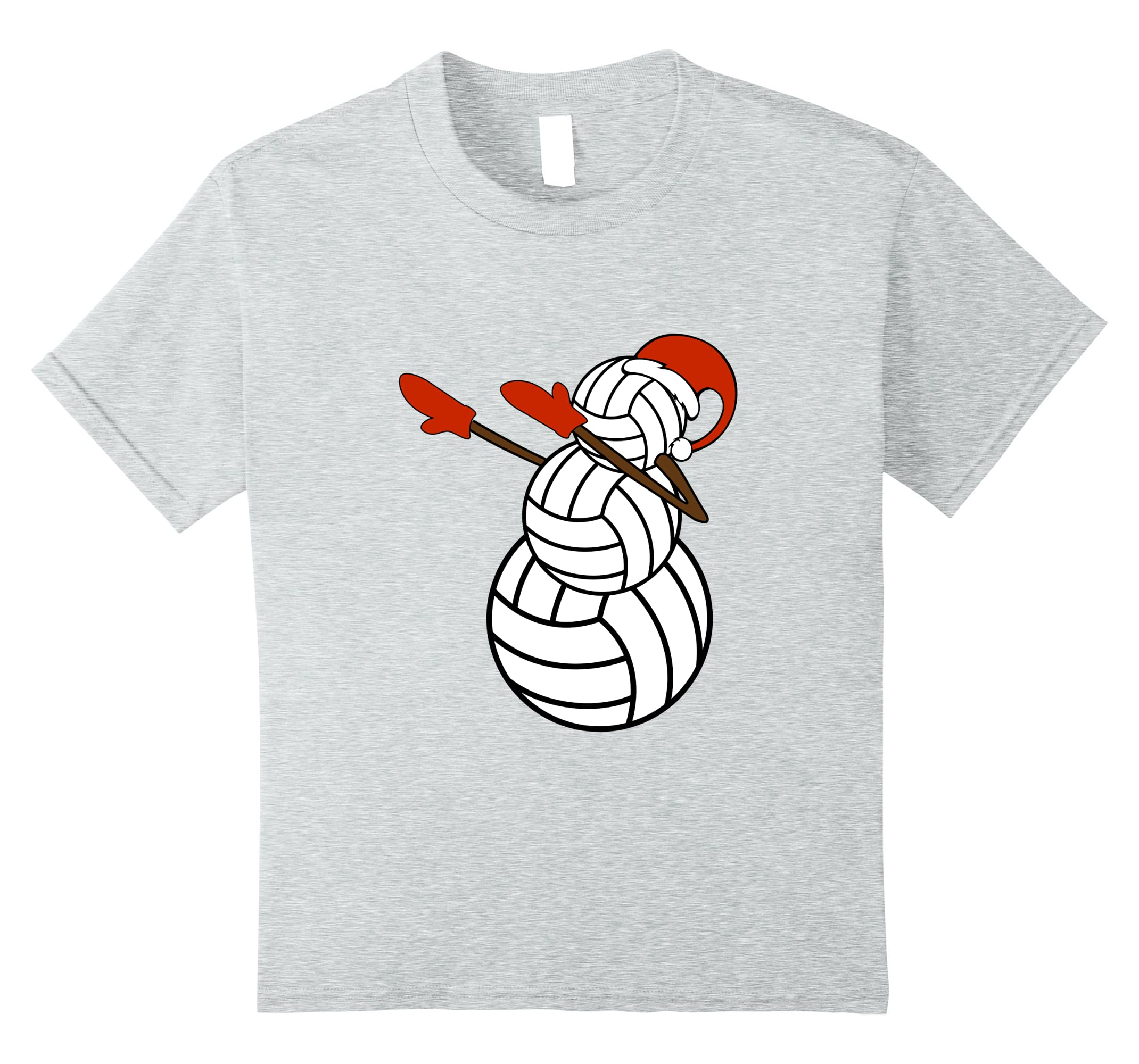 Dabbing Snowman Made Volleyballs Santa-Veotee