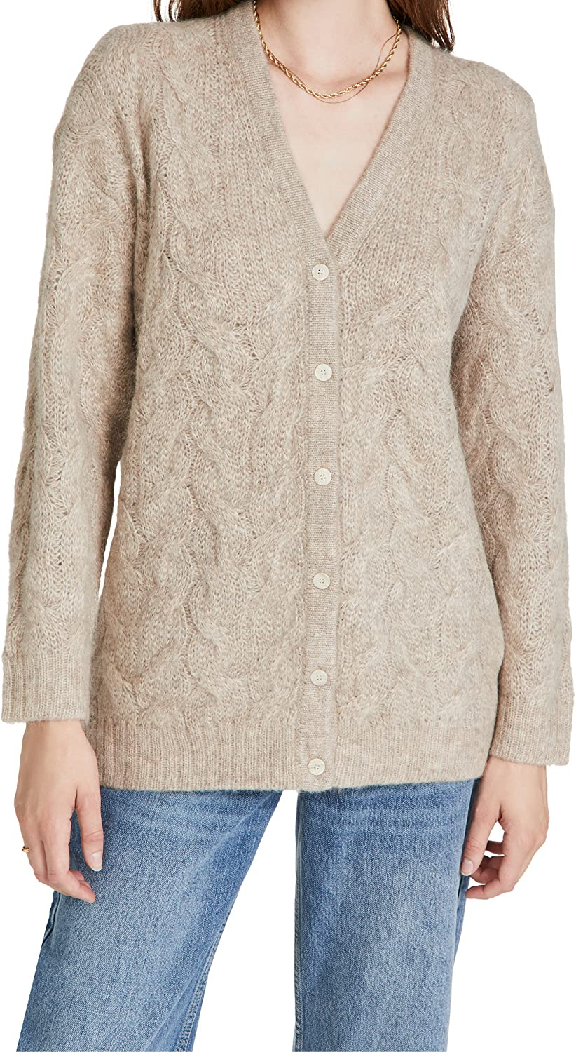 Theory Women's Alpaca Cable Knit Cardigan