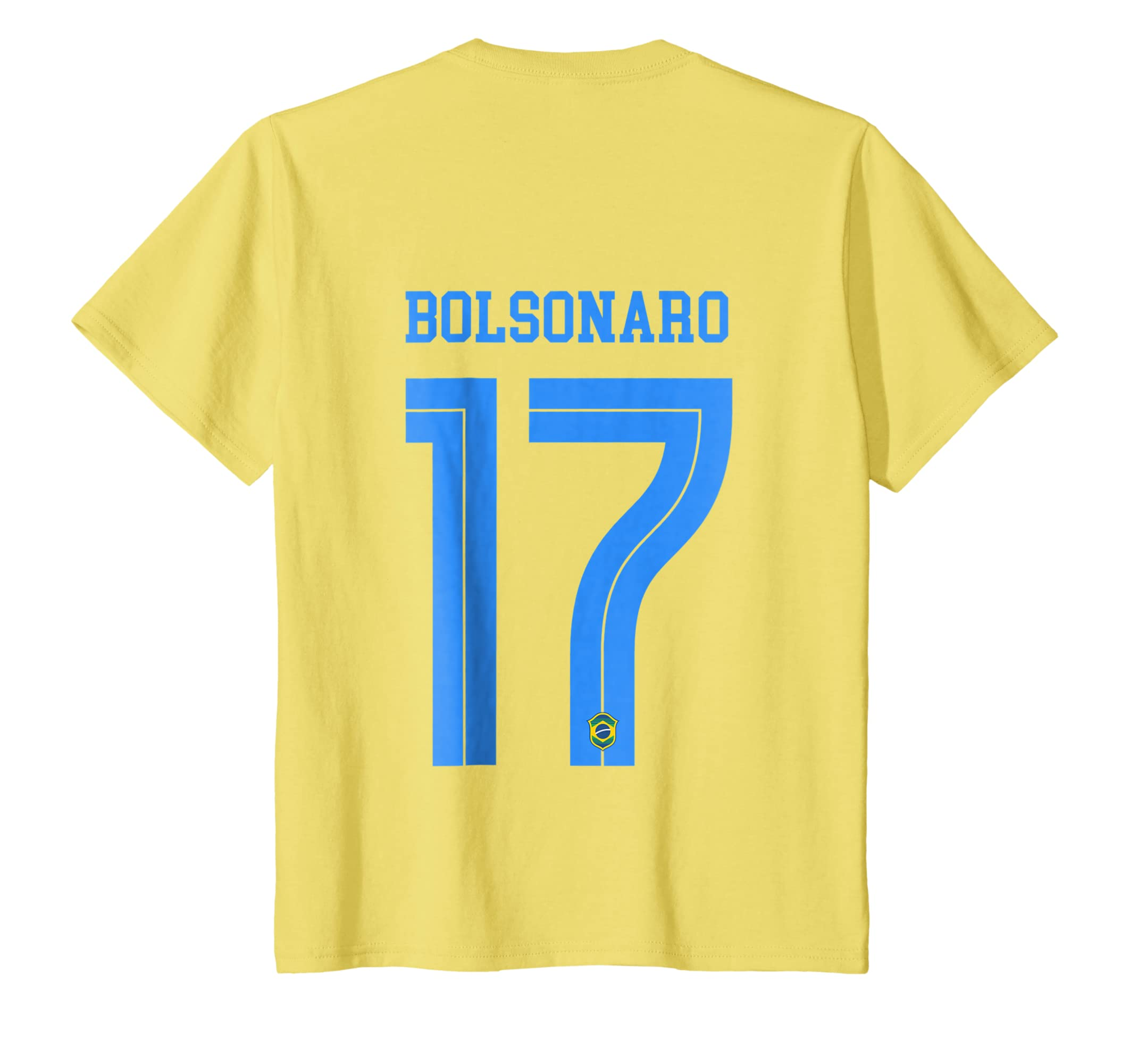 Amazon.com: NUMERO COSTAS VOTE 17 Bolsonaro Presidente 2018 T-shirt: Clothing