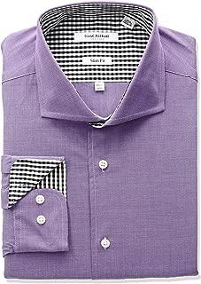 Men's Slim Fit End Cut Away Collar Dress Shirt