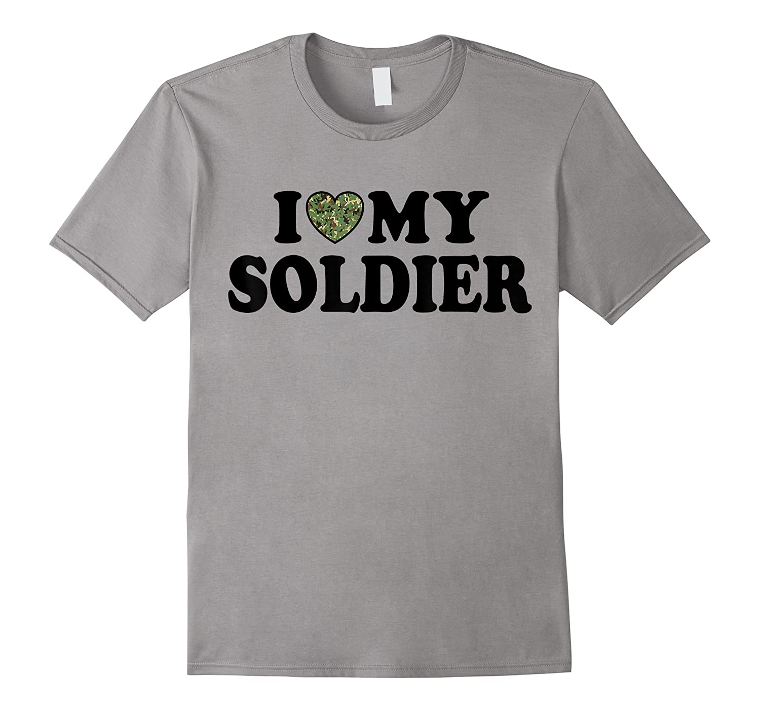 Love My Soldier Army Multicam Camo Camouflage Heart White Shirts