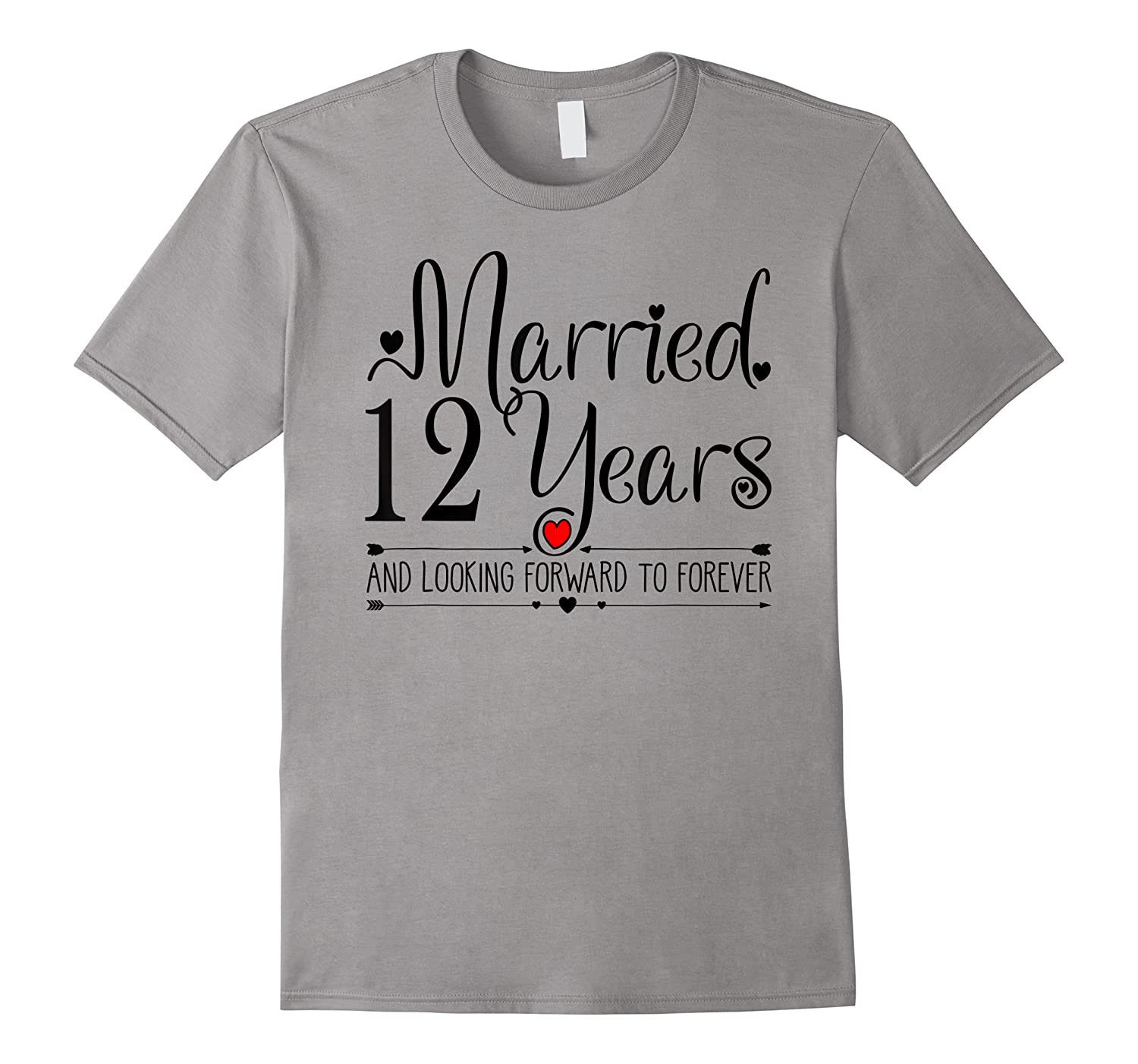 12th Wedding Anniversary Gifts Her Just Married 12 Years Ago Shirts