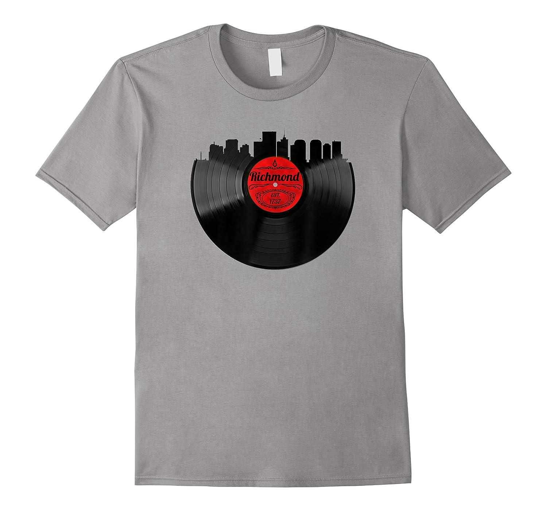 Richmond Virginia Vintage Skyline Vinyl Record Shirts