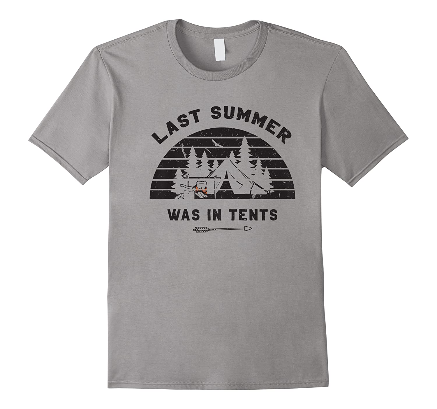Funny Last Summer Was In Tents Camping Outdoor Hiking Shirts