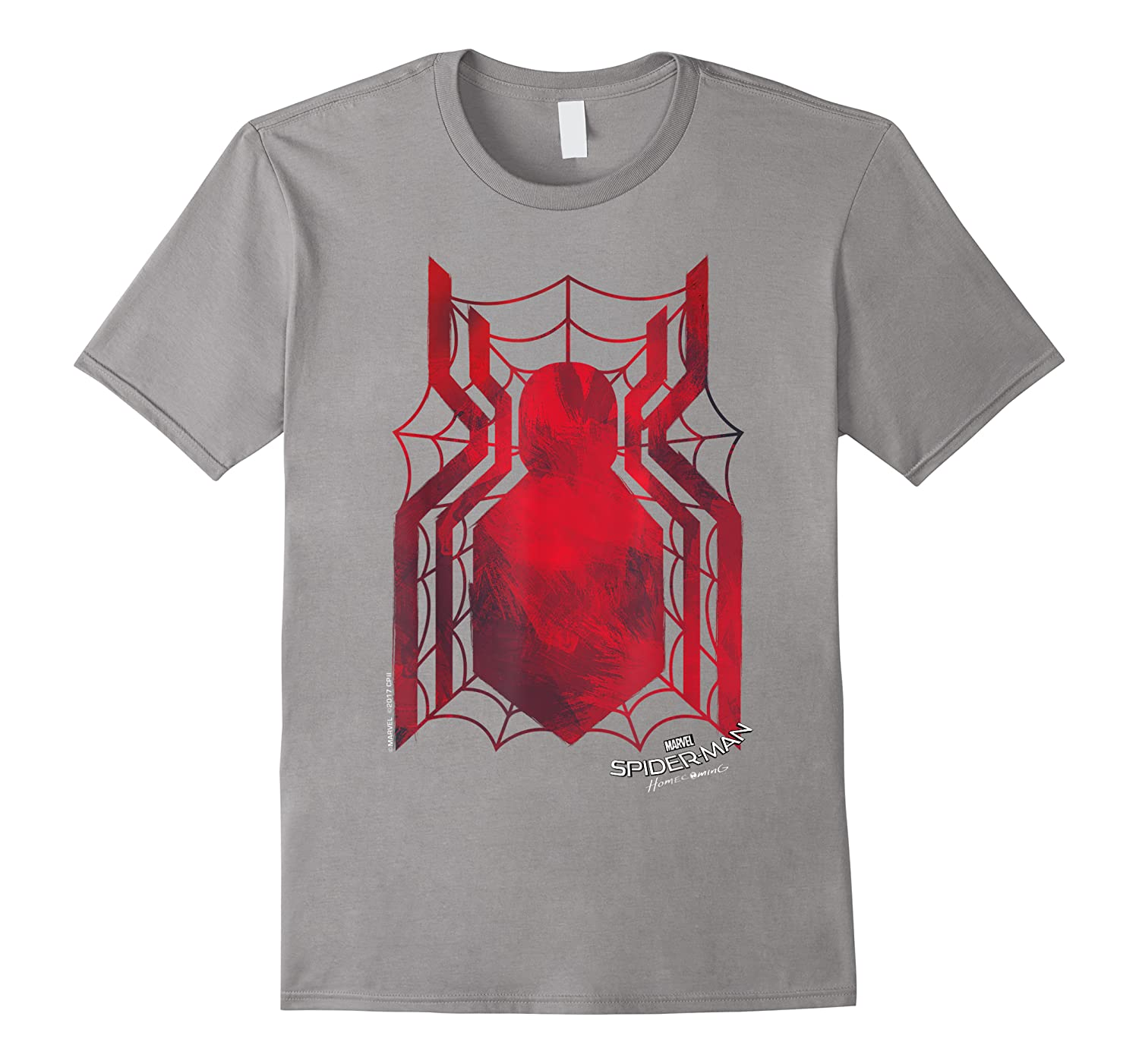 Marvel Spider-man Homecoming Grungy Ink Logo T-shirt C1