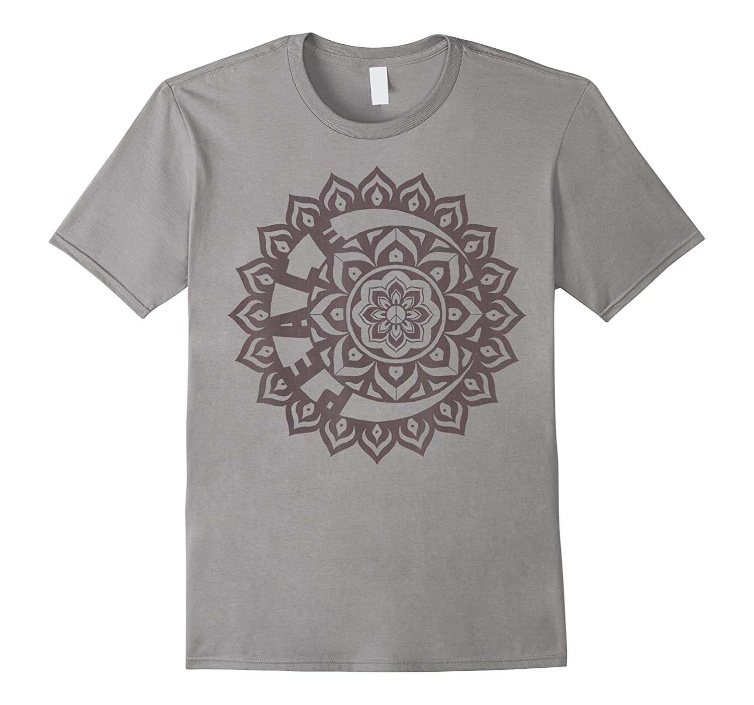 Peace Inside Crescent Moon Inside Flower Graphic Shirts