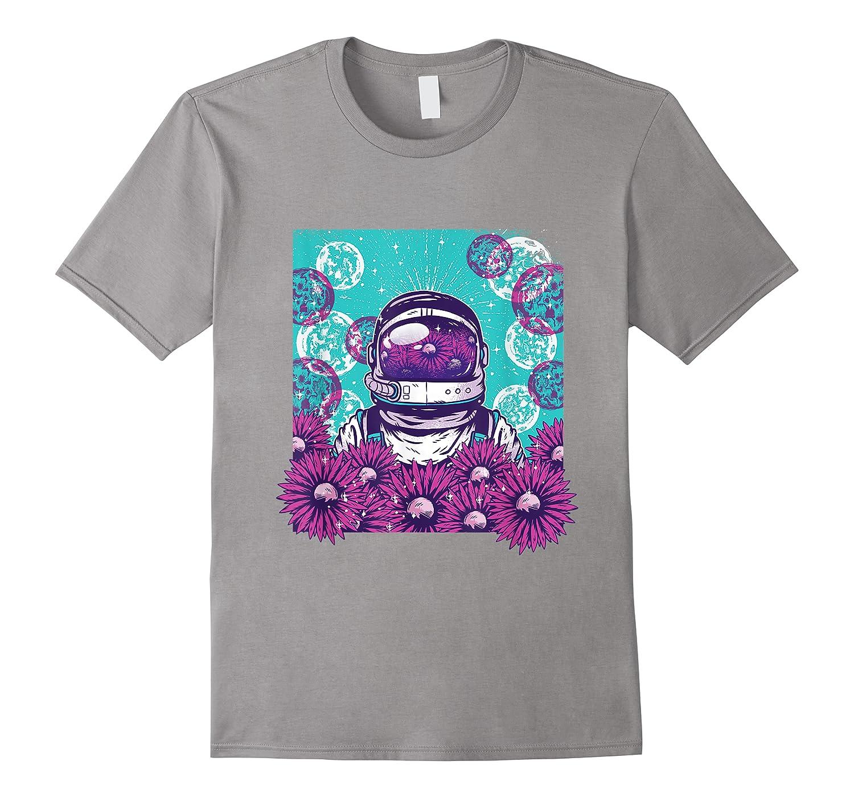 Astronaut Flowers Daisy Bubble Ocean Shirts