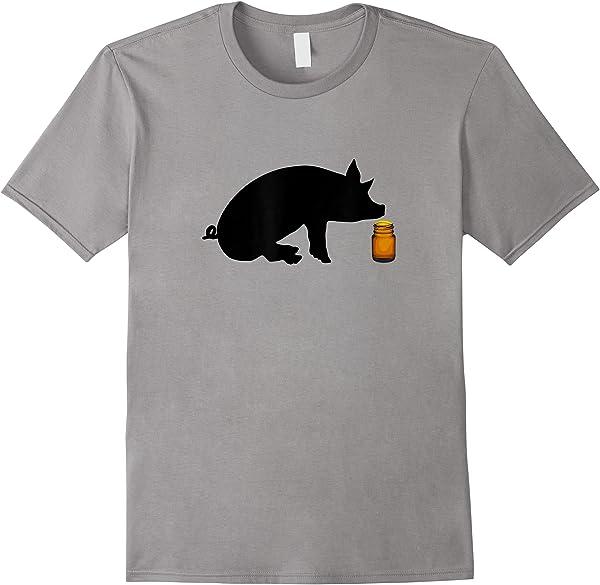 S Little Brown Bottle Popper Pig Head Cleaner Gay S T-shirt