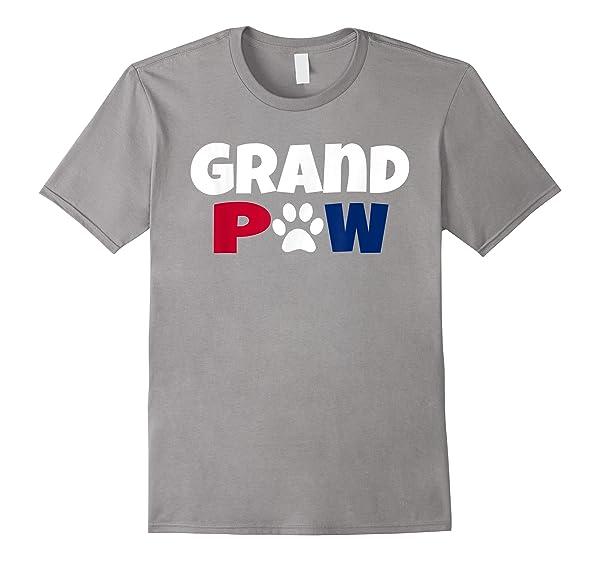 Grand Paw T Shirt Dog Lover 4th Of July Grandpa Dog Shirt