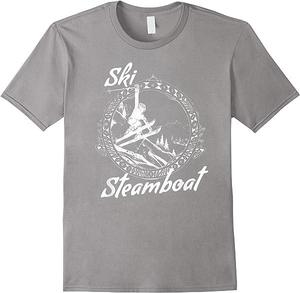 Ski Steamboat Springs Vintage Retro Snow Ski Vacation T-shirt