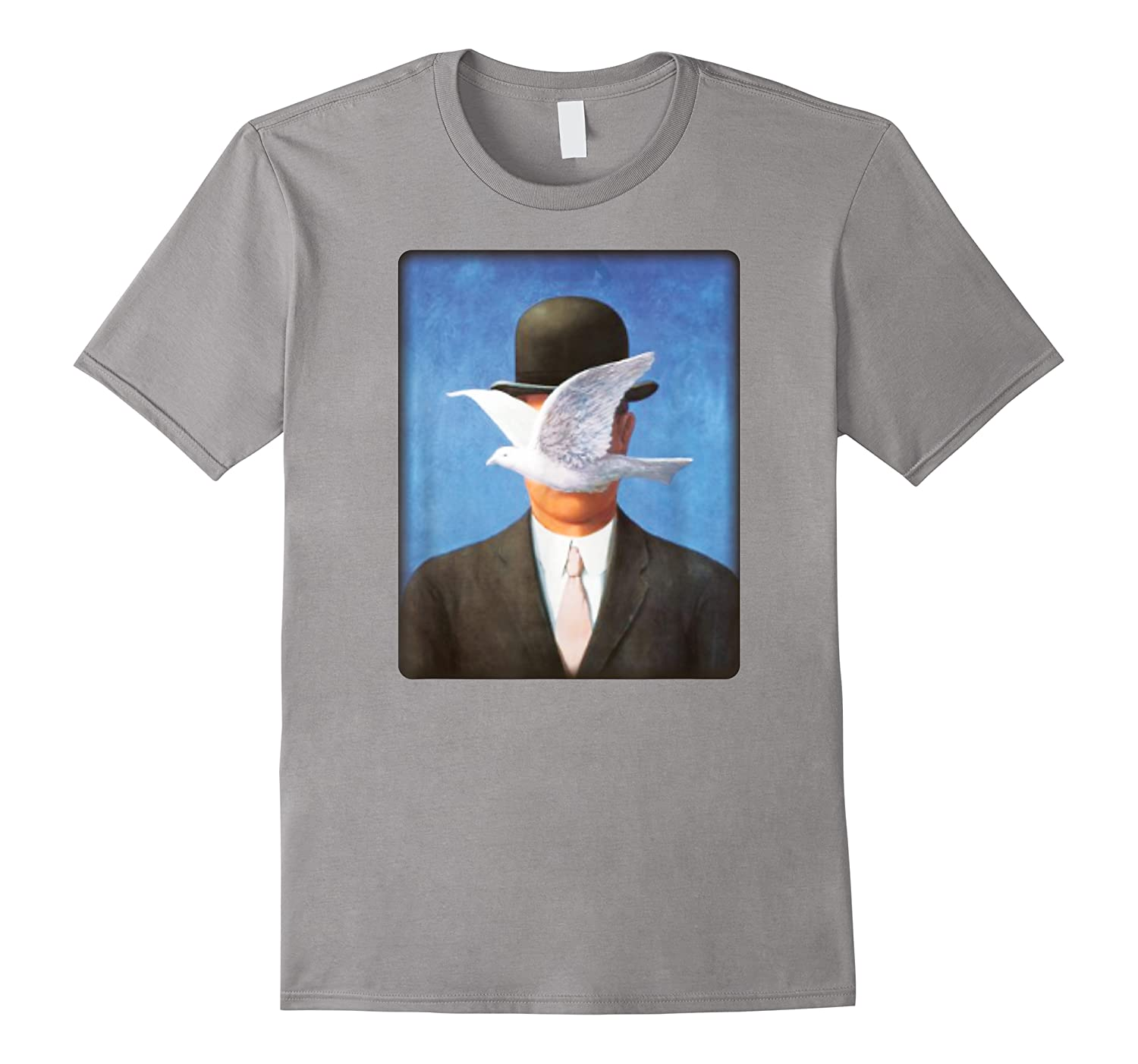 Son Of Man By Rene Magritte With Flying Dove Blocking Face Shirts