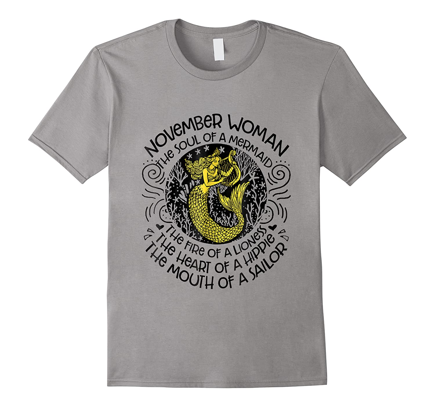 November Woman The Soul Of A Mermaid T Shirt Gift For