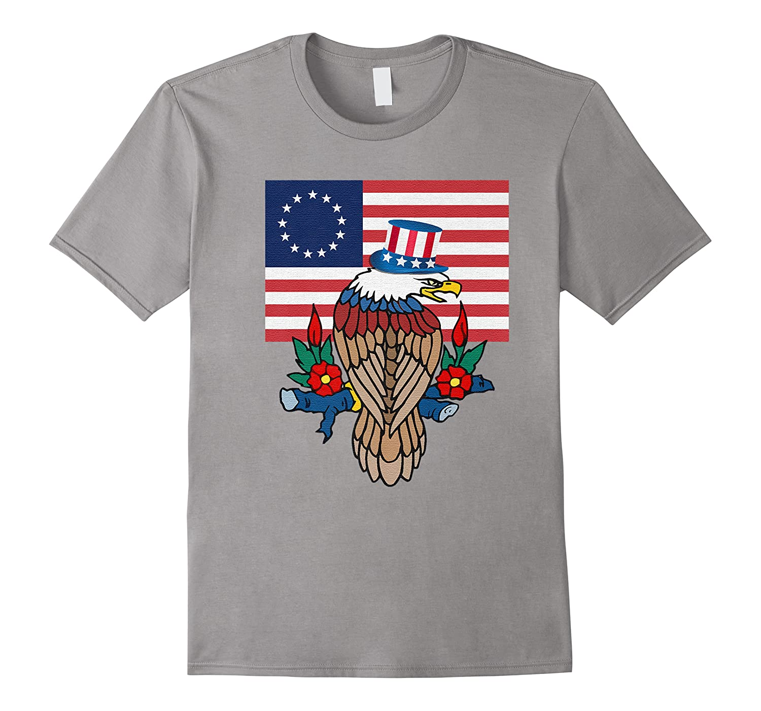 Eagle With B Ross American Flag Shirts
