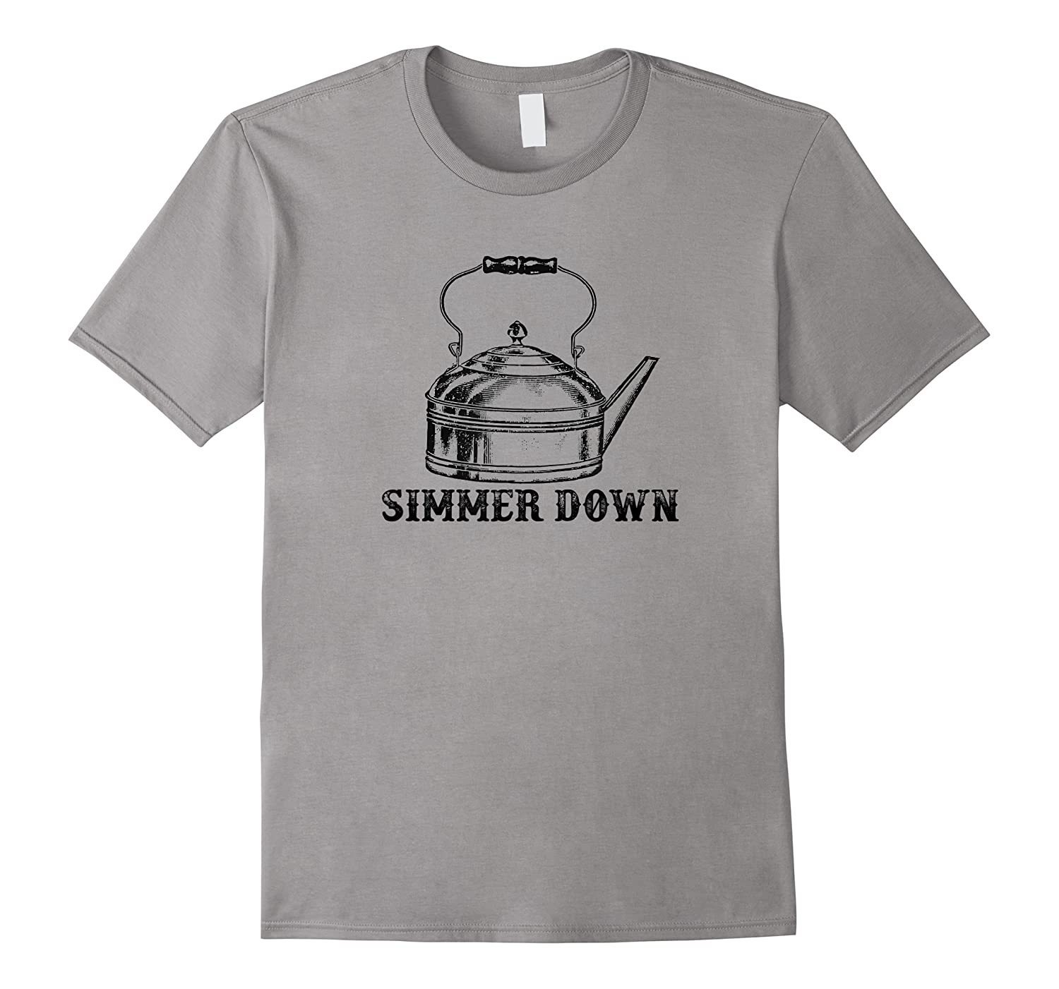 Simmer Down Funny Foodie Tea Kettle Vintage Shirts
