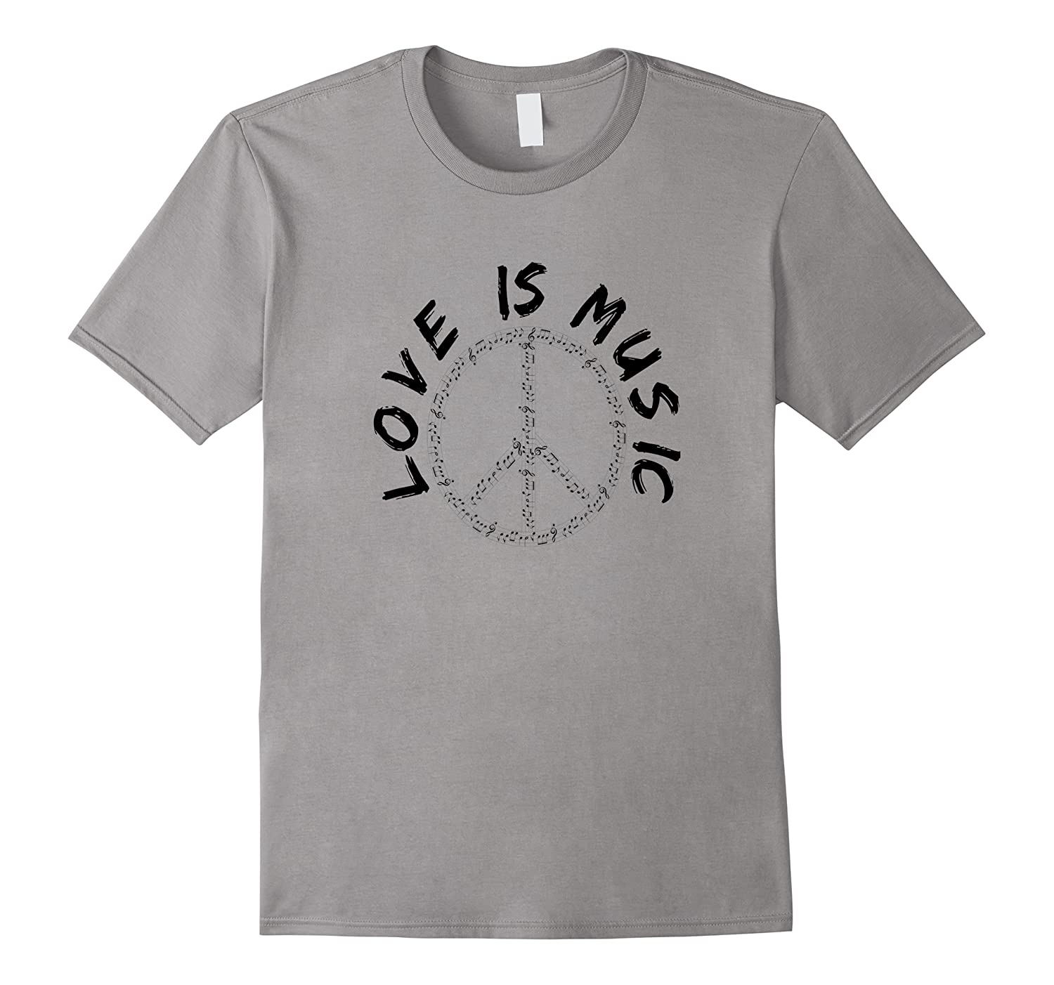 Love Is Music Peace Sign Shirts