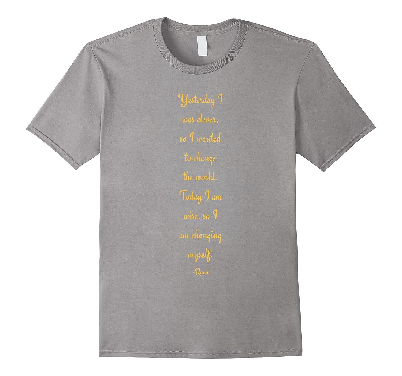 Rumi Inspirational Quote Shirts