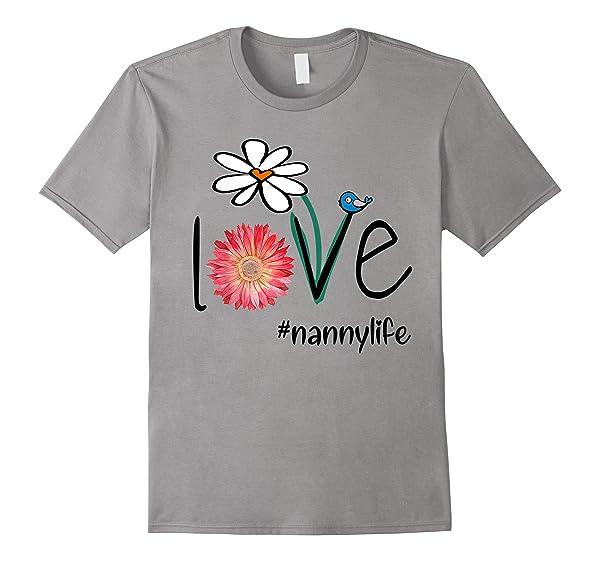 Mom Love Nanny Life Mimilife Heart Floral Gift T Shirt