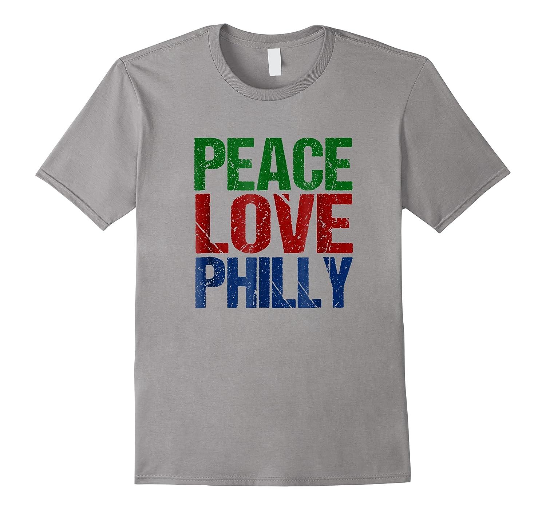 Peace Love Philly T-shirt For Philadelphia