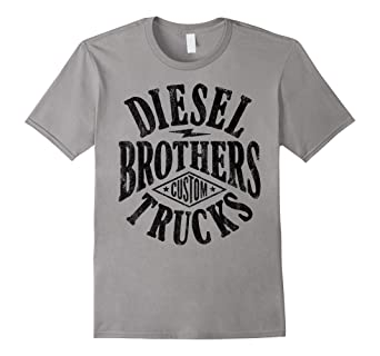 a234362f0 Image Unavailable. Image not available for. Color: Diesel Brothers Custom  Vintage Black Text Graphic T-Shirt