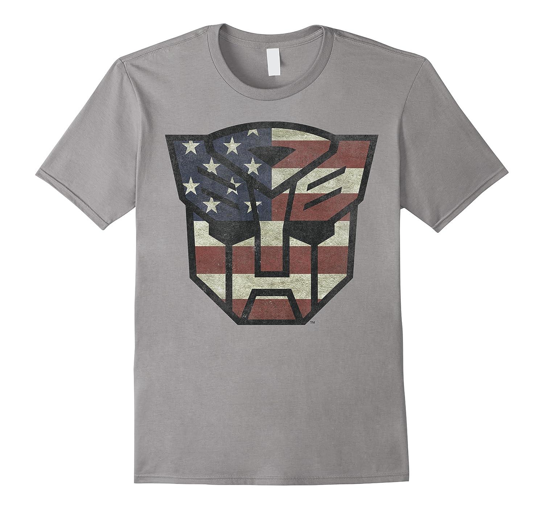 Transformers Shield American Flag Graphic Shirts
