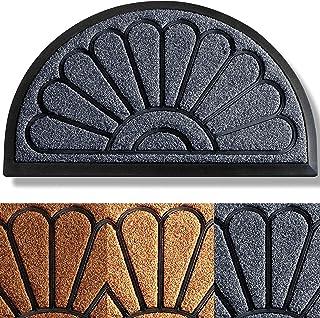 Best Extra Durable Door Mat 30x18 - Welcome Mats for Front Door - Front Door Mat Outdoor - Door Mats for Home Entrance Doormat - Half-Round Welcome Mat - Rugs for Entryway - Outdoor Doormats - Entryway Rug Review