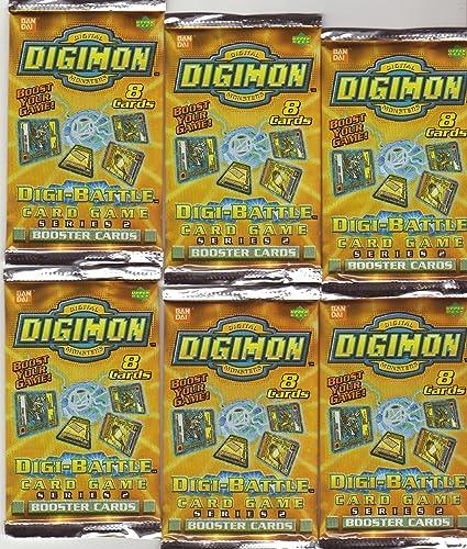 Digimon Serie 2 Booster-Pak  6 Digimon Booster mitje 8 Karten pro Packung   DIGI-Battle Card Game (Englisch)