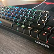 Ozone Gaming Teclado Mini Tactical -OZTACTICALSP- Mecanico sin Teclado numerico, Bluetooth 5.0, Switches Outemu Red, Iluminacion LED RGB, Silencioso, ...
