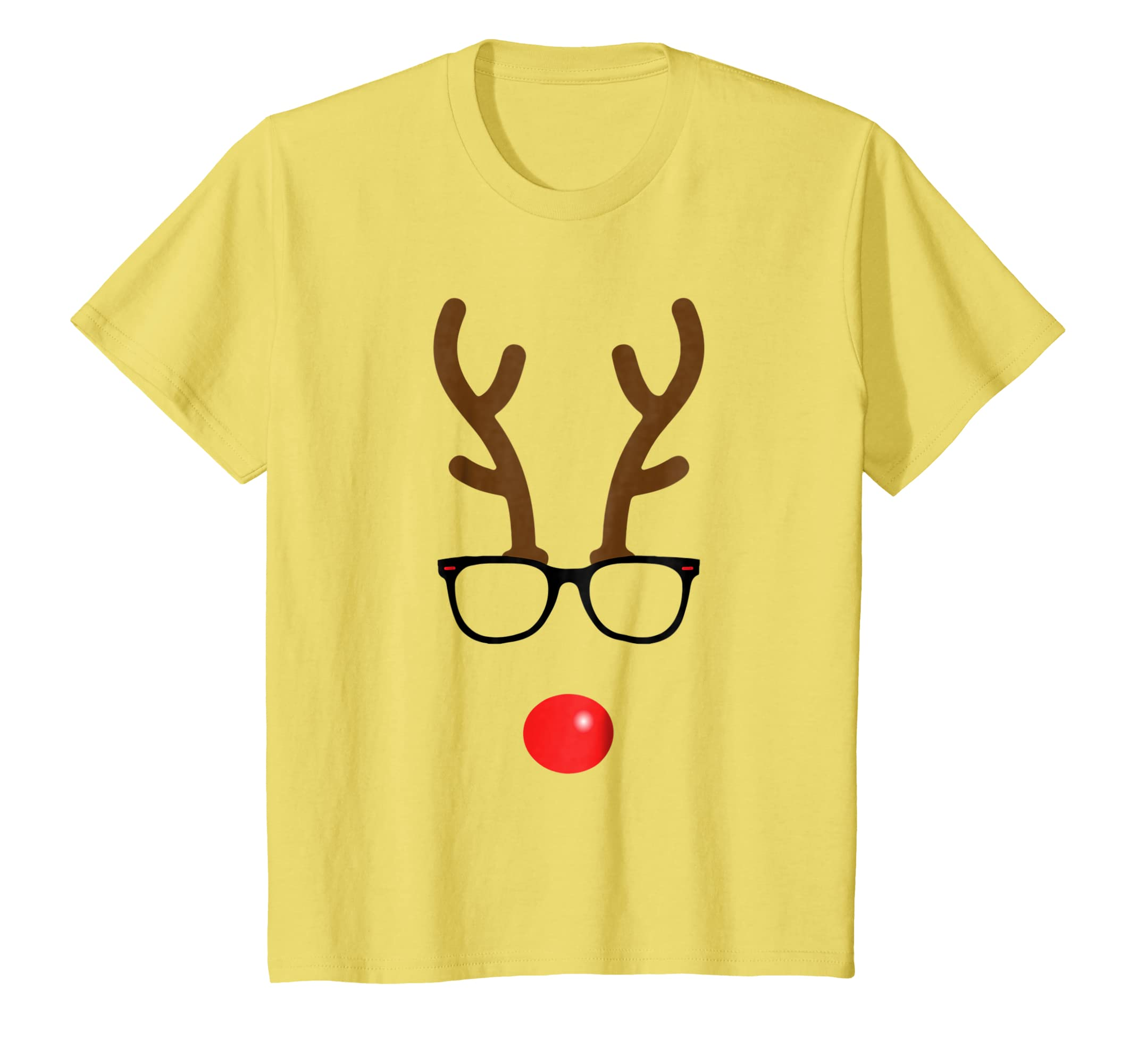 Amazon.com: Rudolph The Red Nose Reindeer Nerd Geek Christmas T-Shirt: Clothing