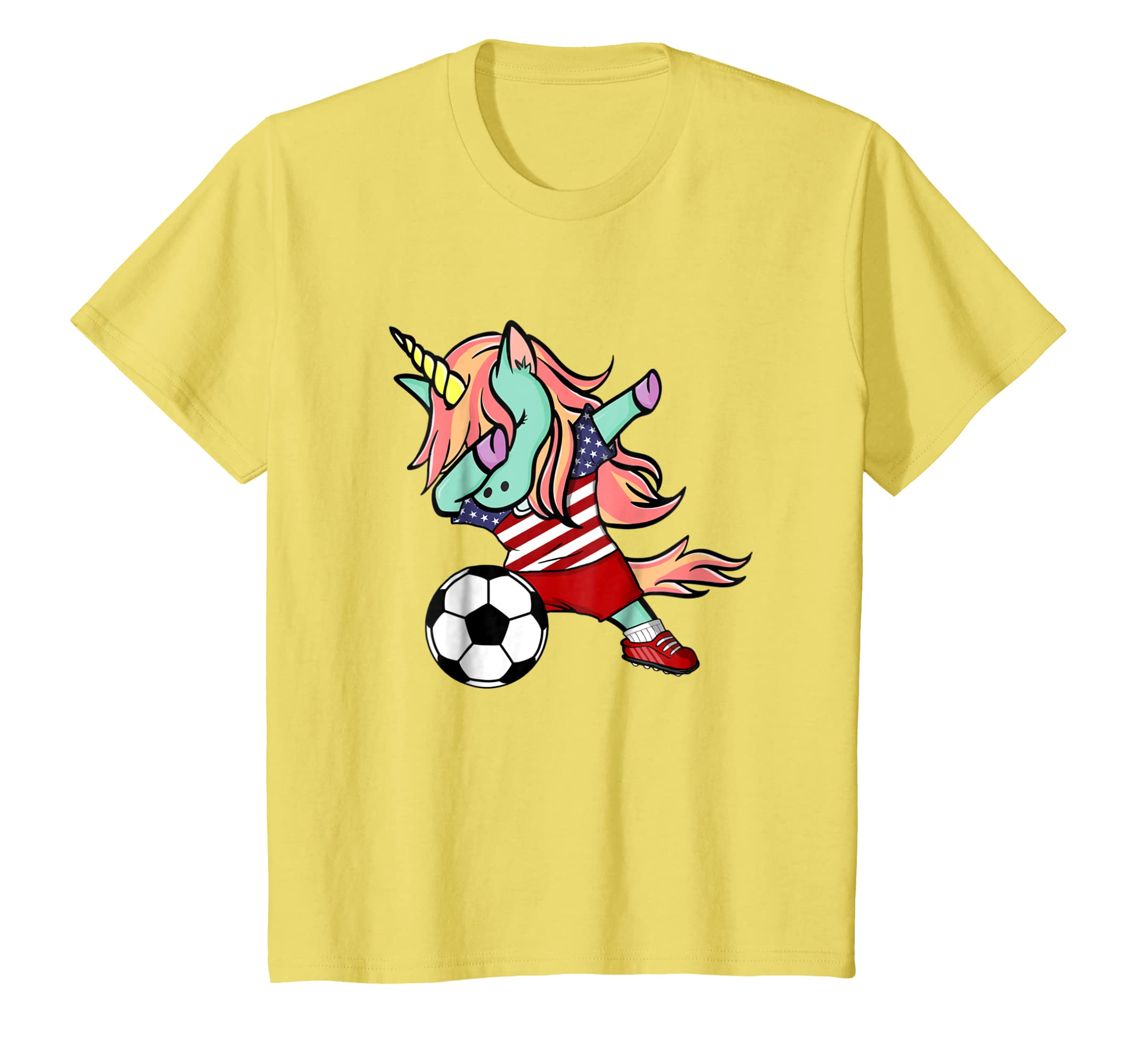 d28329e75f0 Amazon.com  Dabbing Unicorn Soccer United States Jersey Shirt Football   Clothing