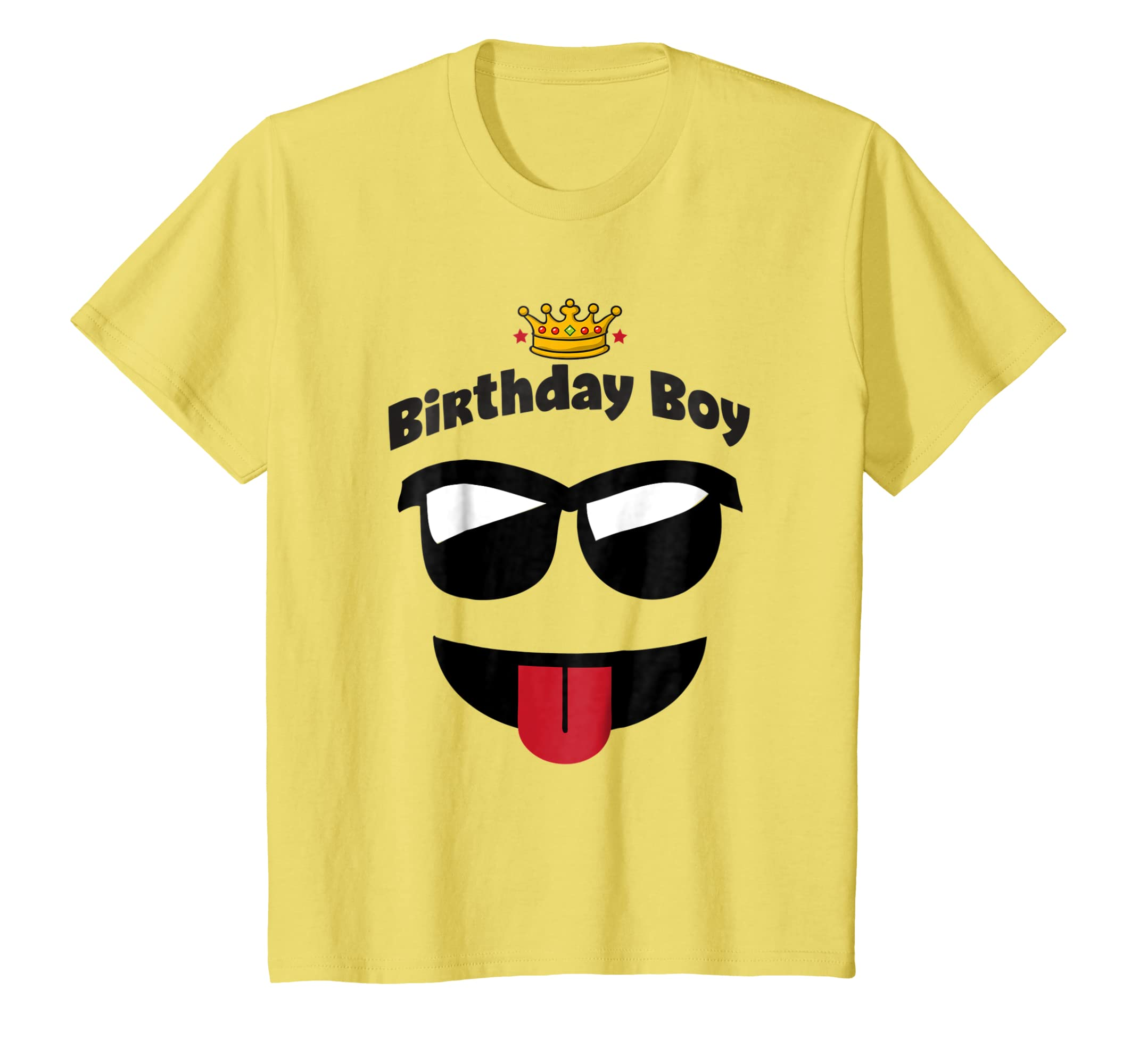 Amazon Emoji Birthday Shirt Boy Sunglasses Tongue Out King Tee Clothing