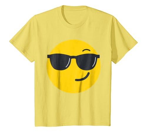 Amazon.com: Emoji Face - Sunglasses Face costume T-Shirt ...